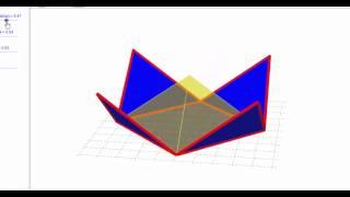 [ GeoGebra Dersleri Türkçe ] Piramit Açılımı (Mesut Topal)