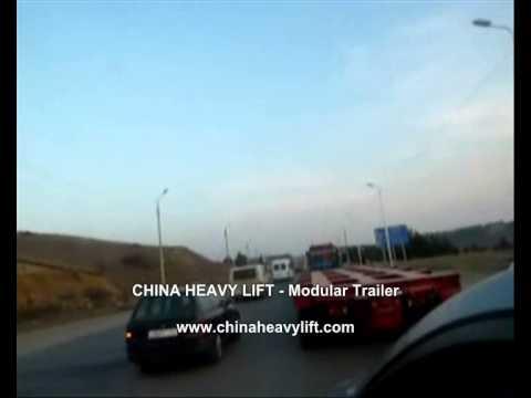 CHINA HEAVY LIFT Modular Trailer After sales service in Georgia (hydraulic multi axle) 7
