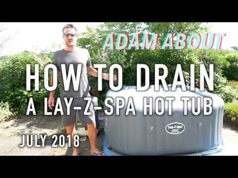 How to drain & clean a Lay-Z-Spa hot tub - based on Hawaii Hydrojet Pro