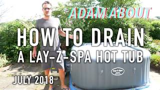 How to drain a Lay-Z-Spa hot tub - based on Hawaii Hydrojet Pro