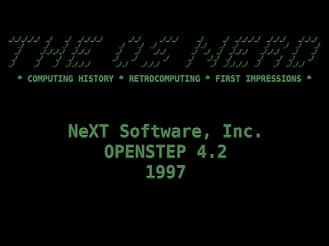 GUI History - OPENSTEP 4.2