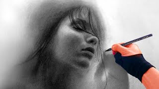The Mist of a Dream - Portrait Art Video Art Drawing Video