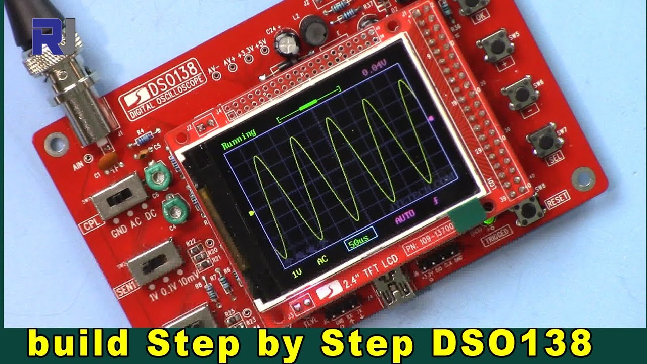 DSO138 Digital Oscilloscope Kit step by step build