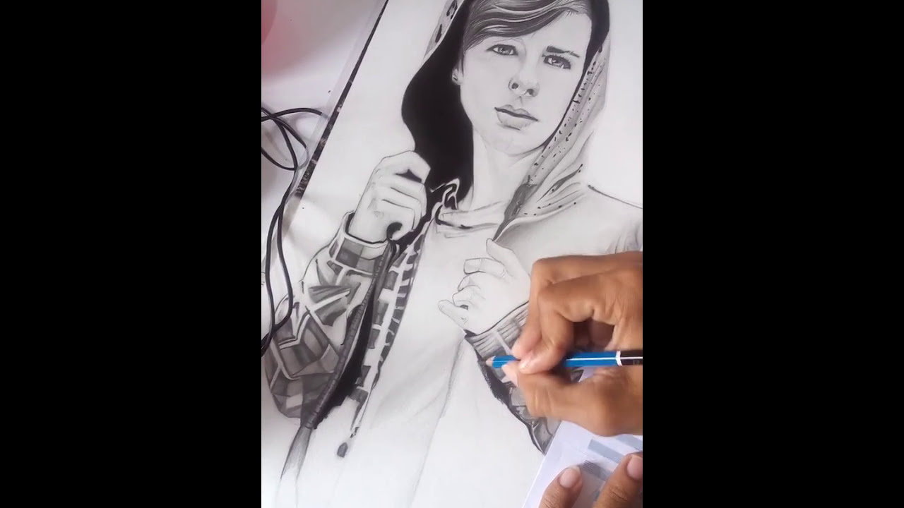 Desenho Realista De Carl Grimes The Walking Dead Youtube