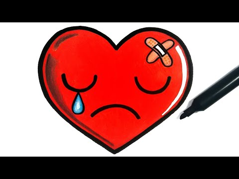 HOW TO DRAW A SAD HEART