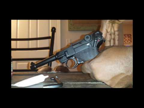 The Umarex PO8 Luger pistole parabellom quick set up first shots