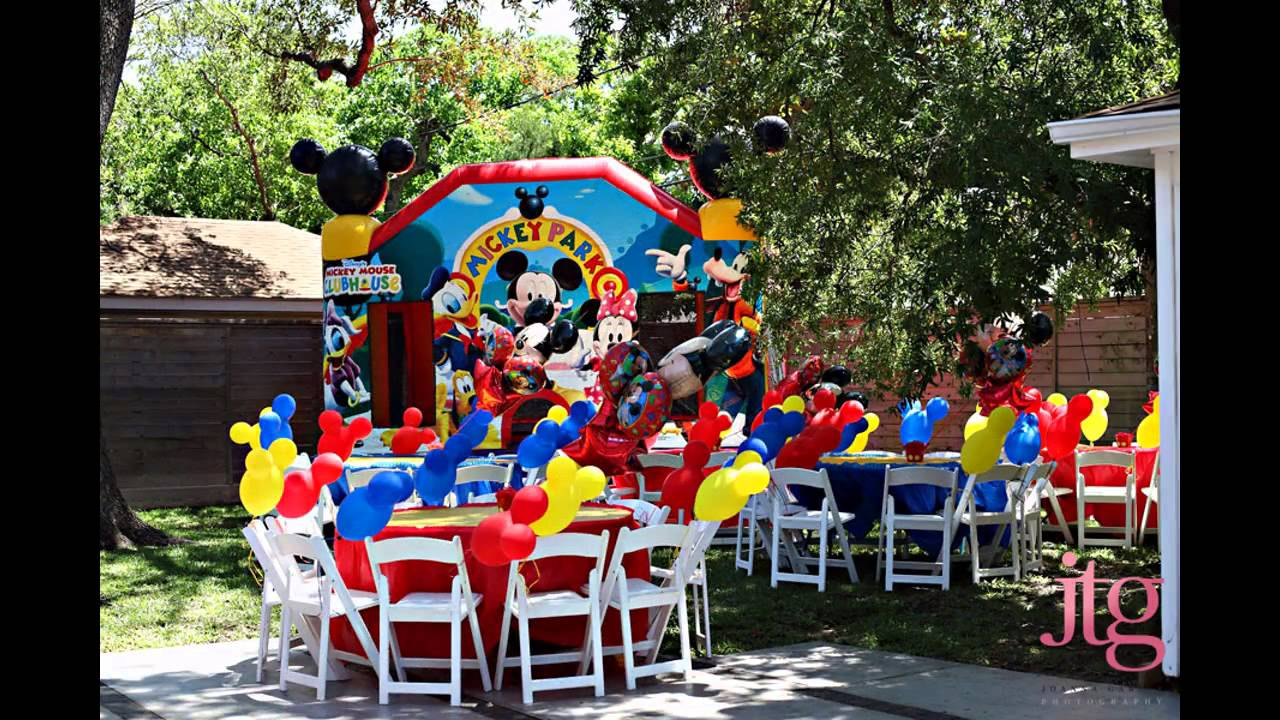 Awesome Mickey mouse themed party decor  YouTube