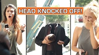 HEAD KNOCKED OFF by ladder! (PRANK / TRICK)