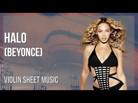 EASY Violin Sheet Music: How to play Halo by Beyonce