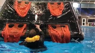 Life Raft Righting Technique