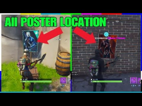 ALL POSTER LOCATION FOR OMEGA & CARBINE! FORTNITE WEEK 6 CHALLENGES!