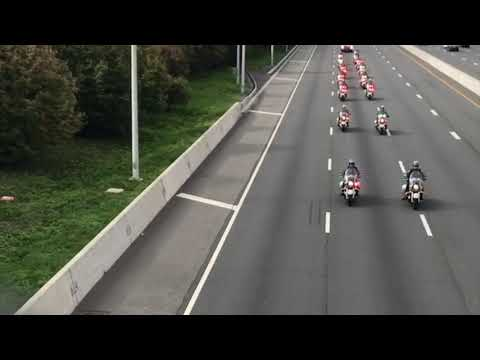 NYPD caravan takes over Staten Island Expressway