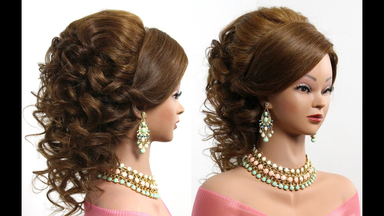 bridal hairstyle for long hair tutorial - youtube