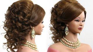 Arabic wedding hairstyle for medium long hair