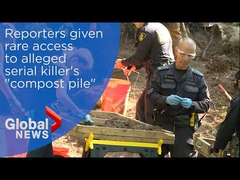 "Alleged serial killer Bruce McArthur's ""compost pile"" showed off to reporters"