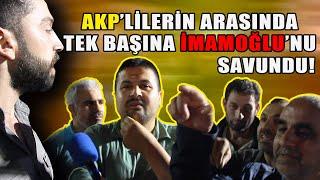 AKP'lilerin arasında kaldı... Tek başına İmamoğlu'nu savundu (Bağcılar seçim anketi 1)