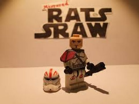 Custom Lego Captain Fordo Minifigure made by Mirrored Rats Sraw ...