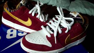 Nike SB Dunk Low - Ron Burgundy's - YouTube