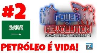 Geo-Political Simulator 4 - Aprendendo a Jogar! Jogando com a Arábia Saudita! Petróleo é vida! PT-BR