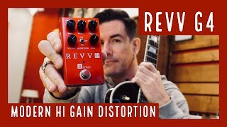 MODERN HI GAIN SATURATION! REVV G4 demo by Pete Thorn
