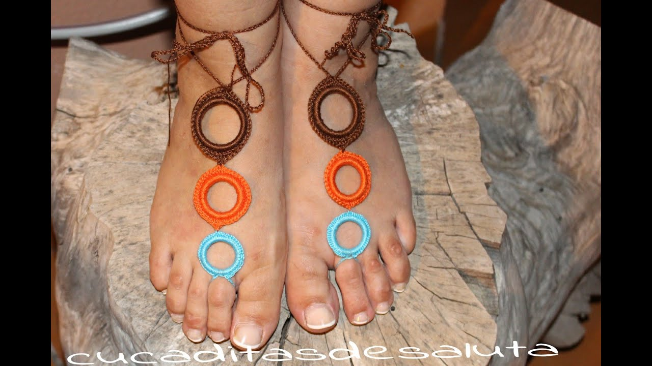 Sandalias pies descalzos ! barefoot sandals / nº2 - YouTube