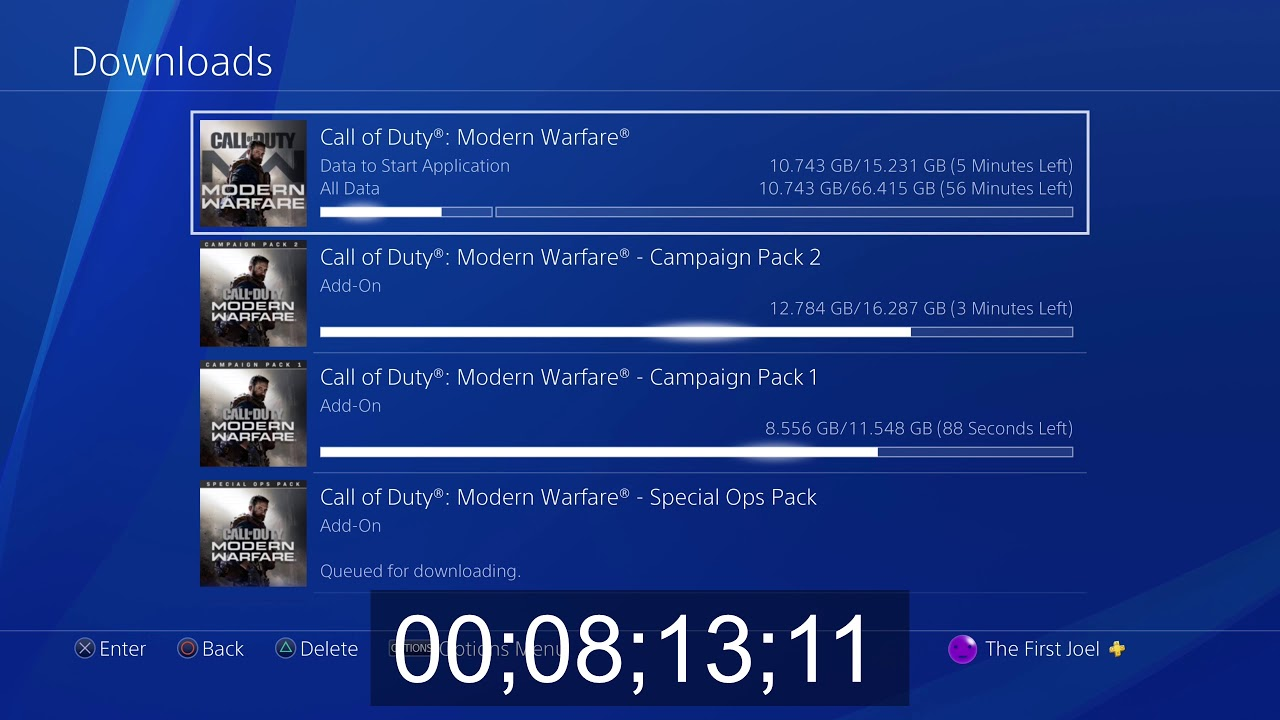 Downloading Modern Warfare At 1000 Mbps On Ps4 Youtube
