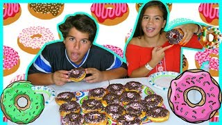 """DON'T EAT THE WRONG DONUT CHALLENGE """"ALISSON VS KENDRY """" SISTER FOREVER"""