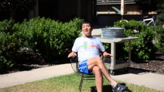Dr. Liqun Luo from Stanford doing the ice bucket challenge 9/2/2014