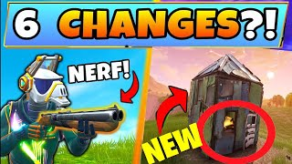 Fortnite Update: 5 SECRET CHANGES in SEASON 6! - Vaulted Items & Map Changes in Battle Royale!