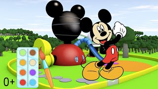 Мультик раскраска  Детские онлайн раскраски с героями из мультфильма Микки Маус