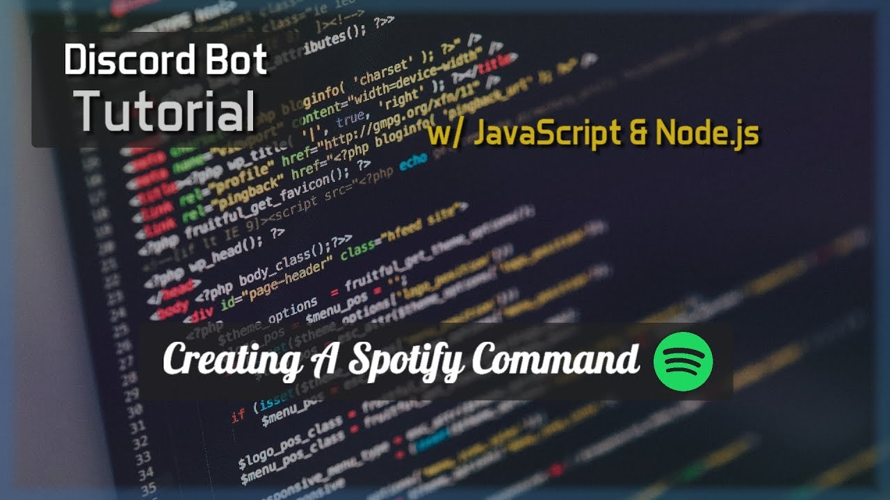 Discord Bot Tutorial Essentials Spotify Command Youtube