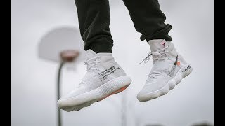 POSSIBLY THE BEST BASKETBALL SHOE 2017 ( OFF WHITE HYPERDUNK ON FEET REVIEW)