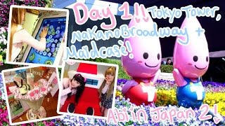TSUM TSUM ARCADE GAME?!? | Day 1 - Tokyo Tower, Nakano Broadway, Maid Café | Abipop in Japan 2015 ♡