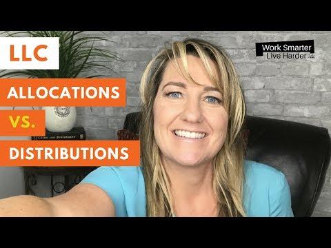 LLC Allocations vs Distributions