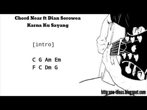 Kunci Gitar / Chord NEAR feat DIAN SOROWEA - KARNA SU SAYANG