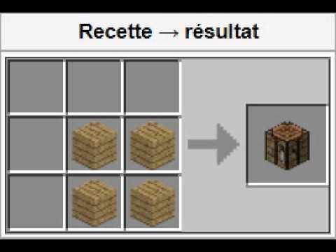 Minecraft comment faire un tabli dans minecraft youtube - Comment faire un evier dans minecraft ...
