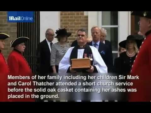 Baroness Thatcher's ashes are laid to rest