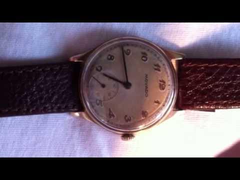 9k Gold Movado Watch