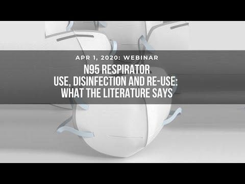 N95 Respirator Use, Disinfection And Re-Use: What The Literature Says