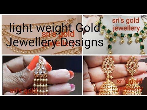 Light Weight Gold Jewellery Designs Goldjewellery Goldjewlry Gold Jewellery Youtube
