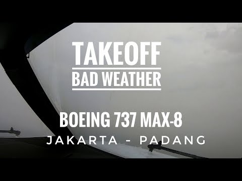 Takeoff Bad Weather dengan Boeing 737 MAX 8