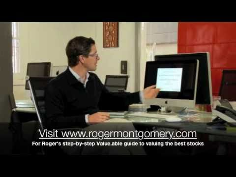 What is Roger Montgomery's Value.able intrinsic valuation formula?