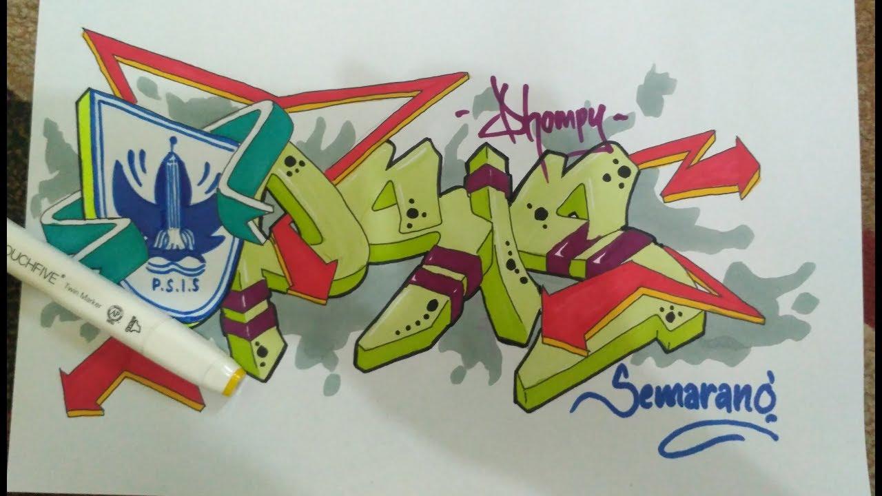 Membuat graffiti psis semarang
