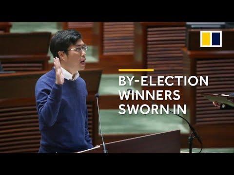By-election winners sworn in to Hong Kong's Legislative Council