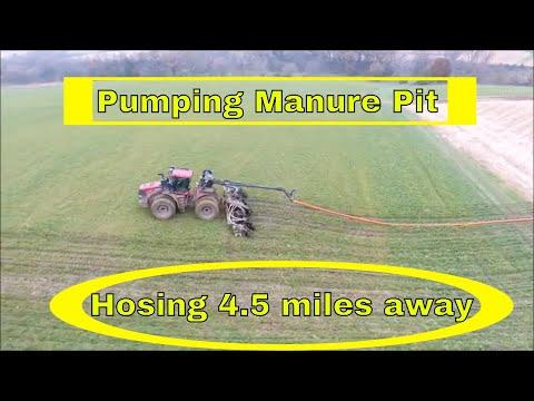 Hauling Manure Pit | Hosing 3.5 MILLION Gallons 4.5 MILES Away
