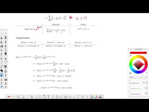 Compute the derivative of the given function e^(1-sint-cost)