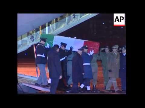 Body of intelligence officer returns, preps for memorial