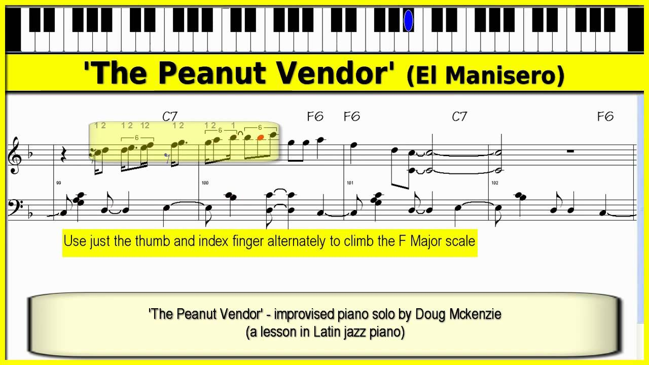 39 the peanut vendor 39 latin jazz piano tutorial youtube. Black Bedroom Furniture Sets. Home Design Ideas