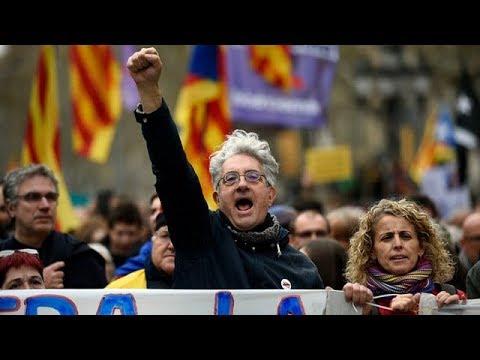 Protests in Barcelona after former Catalan president arrested