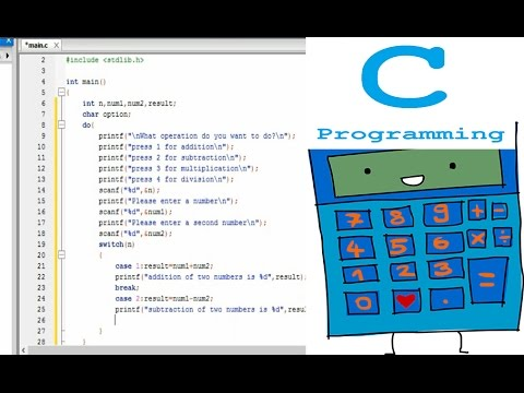 C program to make simple calculator ptutorial.